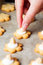 Stock Image : A woman maikng cookies in kitchen