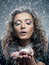 Stock Image : Woman with snow make-up. Christmas snow queen