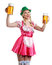 Stock Image : Woman in tiroler oktoberfest style with a glass of beer