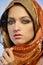 Stock Image : Woman wearing glamorous make up