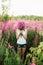 Stock Image : Women in flowers.