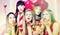 Stock Image : Women having bachelorette party in night club