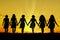 Stock Image : Women walking hand in hand