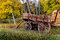 Stock Image : Wood wagon with Aspens