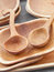 Stock Image : Wooden Bowls and ladles