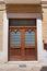 Stock Image : Wooden door. San Severo. Puglia. Italy.