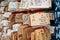 Stock Image : Wooden prayer tablets