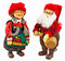 Stock Image : Santa Claus and his wife