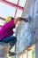 Stock Image : Worker plastering work