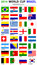 Stock Image : World Cup Brazil 2014 All Nations Vector Flags
