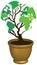 Stock Image : World map eco tree