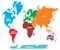 Stock Image : World map