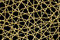 Stock Image : Woven Wicker Net with black background