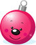 Stock Image : Xmas character - ball decoration with smiling face