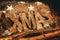 Stock Image : Xmas Decoration with Candle Lanterns