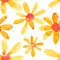 Stock Image : Yellow flowers seamless pattern