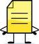 Stock Image : Yellow Note