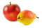 Stock Image : Yellow pear and red apple