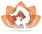 Stock Image : Yoga Lotus Logo