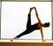 Stock Image : Yoga Pose in on windowsill