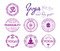 Stock Image : Yoga related stamps and seals