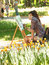 Stock Image : Young artist in park