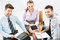 Stock Image : Young business team
