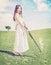 Stock Image : Young girl  shot