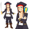 Stock Image : Young Pirate And Parrot