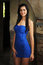 Stock Image : Young sexy woman in blue dress
