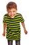 Stock Image : Young teenage boy in green t-shirt fun carefree