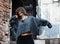 Stock Image : Young woman dancing