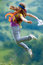 Stock Image : Young woman jumping