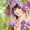 Stock Image : Young woman with flowers
