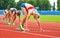 Stock Image :  Zaczynać kobiety biegowe