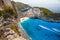 Stock Image : Zakynthos - shipwreck bay