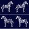 Stock Image : Zebra seamless pattern