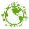 Stock Image :  Zielona planeta