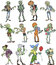 Stock Image : Zombie collection
