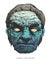 Stock Image : Zombie head. hand drawn. vector eps8