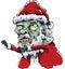 Stock Image : Zombie Santa