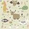 Stock Image : Zoo alphabet