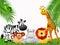Stock Image : Zoo animals cartoon