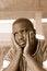 Stock Image :  Zuidafrikaanse gedeprimeerde mens