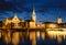 Stock Image : Zurich Skyline at Night, Switzerland