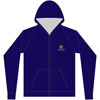 Zipped Navy Blue front