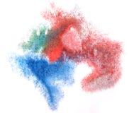 蓝色水彩墨水油漆一滴图片