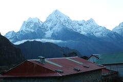  del thÄ del  dell'Everest SagarmÄ e nel tibetano come Chomolungma Fotografia Stock Libera da Diritti