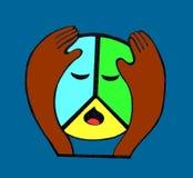  triste de PacifiÑ dos símbolos de paz Fotografia de Stock