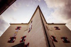 """ d'""""Star†de parc et de château sur la montagne blanche à Prague, République Tchèque Image stock"""